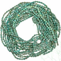 Aqua Green Turquoise Beads Rounded Rectangle Oval 35504