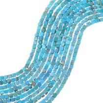 Bird's Eye Turquoise Cube Beads 35505