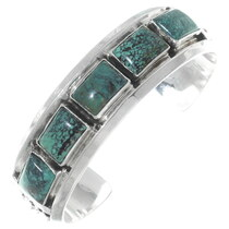 Green Turquoise Navajo Cuff Bracelet 35433