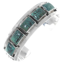Green Turquoise Navajo Cuff Bracelet 35433