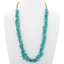 Genuine Turquoise Heishi Necklace 35460