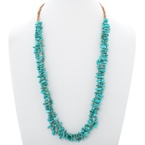 Genuine Turquoise Heishi Necklace 35460