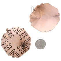 Native American Copper Dangle Earrings 35461