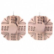 Navajo Copper Concho Earrings 35461