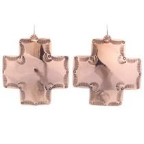 Large Santa Fe Copper Cross Earrings 35463