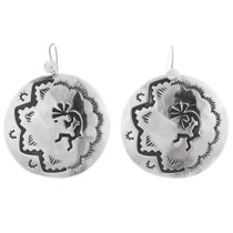 Sterling Silver Kokopelli Earrings 35466