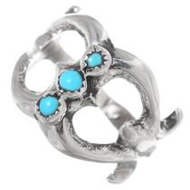 Vintage Sterling Silver Turquoise Ladies Ring 35471