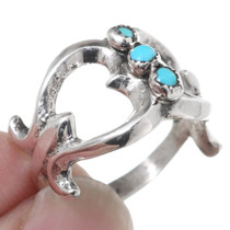 Navajo Sleeping Beauty Turquoise Silver Ring 35471