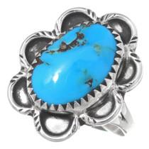 Vintage Turquoise Silver Ladies Ring 35473