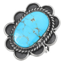 Vintage Turquoise Silver Ladies Ring 35474