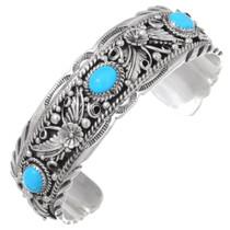 Sterling Silver Native American Cuff Bracelet 35485
