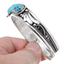 Sterling Silver Navajo Turquoise Bracelet 35486
