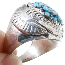 Sterling Silver Native American Turquoise Ring 35487