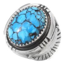 Navajo Spiderweb Turquoise Ring 35488
