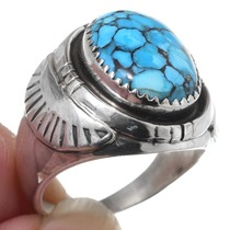 Native American Sterling Silver Mens Ring 35488