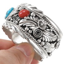 Solid Sterling Silver Turquoise Bracelet 35488