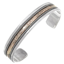 Hammered Gold Silver Navajo Cuff 35491