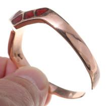Red Coral Lightning Zigzag Bracelet 35498