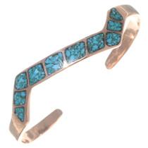 Navajo Copper Turquoise Bracelet 35499