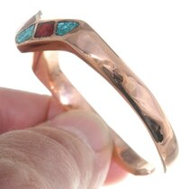 Navajo Zigzag Lightning Cuff Turquoise Bracelet 35600