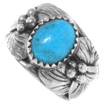Sterling Silver Handmade Turquoise Ring 35609