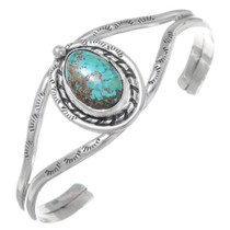 Old Pawn Turquoise Silver Navajo Bracelet 35610