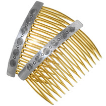 Native American Sterling Hair Combs 35612