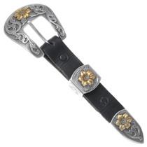 Silver Gold Ranger Belt Buckle Set 35613