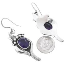 Sterling Silver Amethyst Earrings 35621