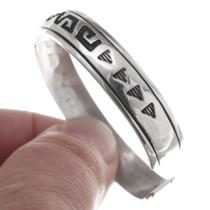 Authentic Navajo TR Singer Sterling Silver Bracelet 35624