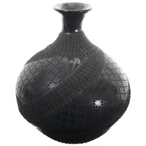 Large Black Mata Ortiz Textured Olla 35638