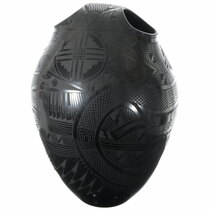 Extra Large Mata Ortiz Blackware Pottery 35648
