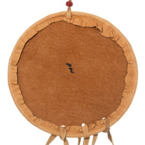 Painted Buckskin Leather Native American Shield 35650
