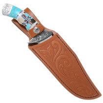 Fixed Blade Knife Tooled Leather Sheath 35651