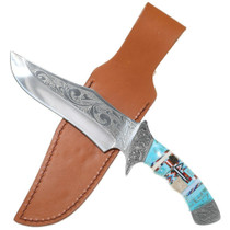 Turquoise Handle Bowie Knife 35651