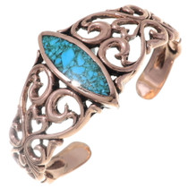 Navajo Turquoise Copper Cuff Bracelet 35663