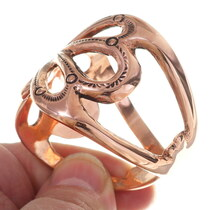 Navajo Butterfly Design Copper Bracelet 35669