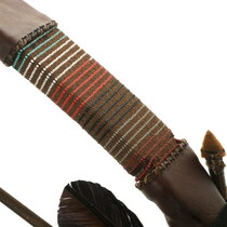 Beaded Leather Wrapped Bow and Arrows Set 35678