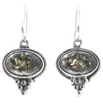 Navajo Peridot Sterling Silver Earrings 35684