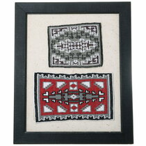Small Vintage Navajo Beaded Rugs 35687