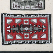 Beaded Navajo Wool Rug Miniature 35687