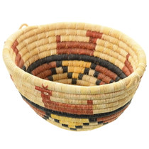 Vintage Hopi Animal Basket Bowl 35690