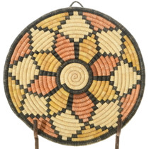Vintage Hopi Coiled Basket Tray 35691