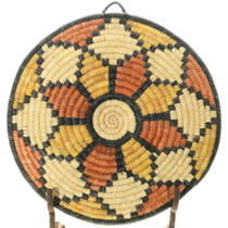 Native American Polychrome Tray Basket 35691