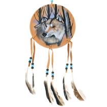Wolf Totem Buckskin Shield 35694