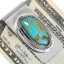 Limited Edition Native American Turquoise Money Clip 34696