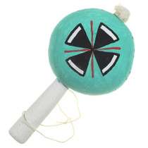 Hand Painted Native American Rattle 35705