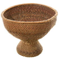 Antique Indian Twined Chalice Basket 35709