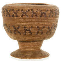 Hand Woven Native American Basket Cup 35710