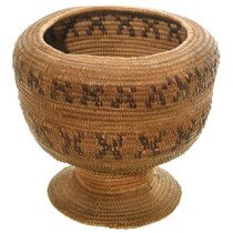 Antique California Indian Basket Chalice 35710